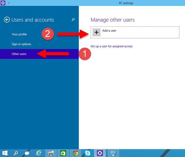 Windows 10: Create New User Account