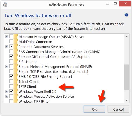 Disable or enable TFTP Client
