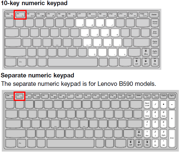 Notebook: How to enter the BIOS on Lenovo B490 B590 B43xx