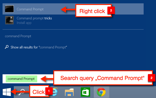 how to get to admin command prompt windows 10