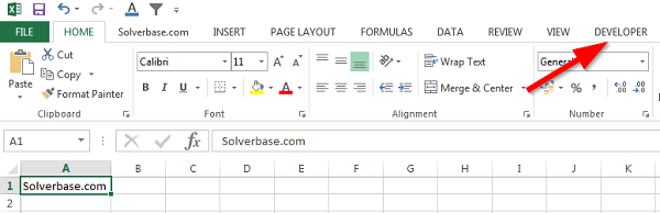 how to get developer tab in excel