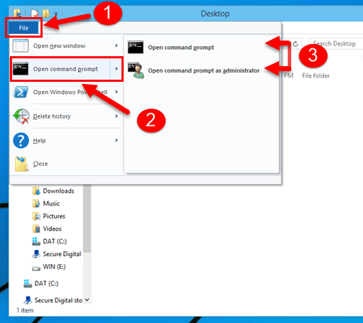how to delete a file with command prompt windows 10