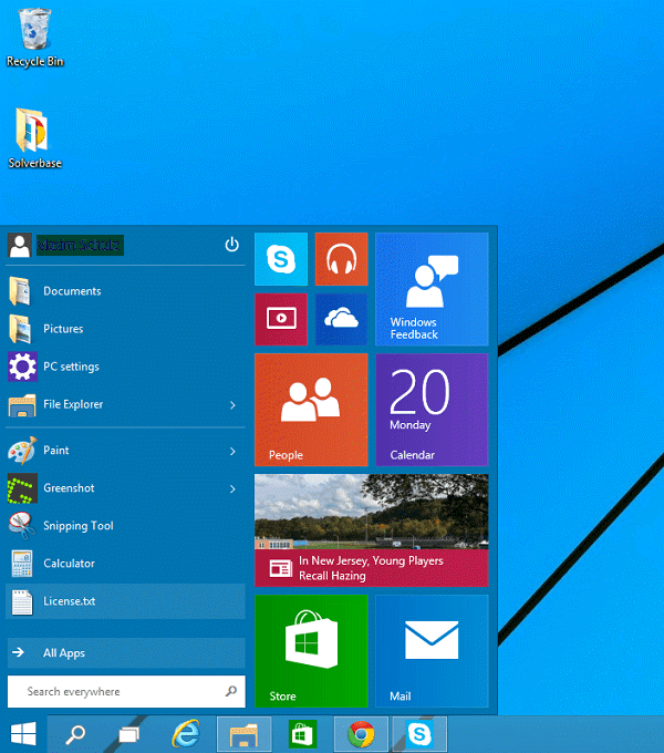 Windows 10: Shortcut for Open the Search Charm - SolverBase com
