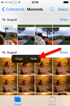 Hide Photo or Picture IOS 8