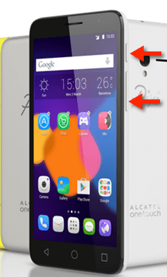 alcatel one touch screen shot