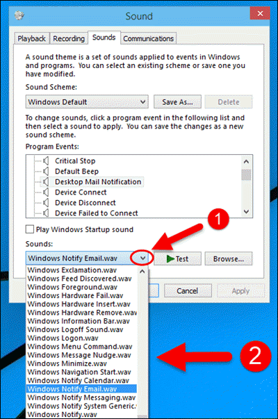 Windows 10: How to Change Mail Notification Sound - SolverBase com