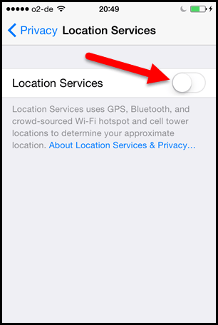 Location Service Turn Off