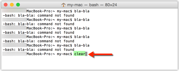 Mac: clear command for messy terminal window