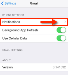IPhone 6 Gmail Notifications and Sounds Settings