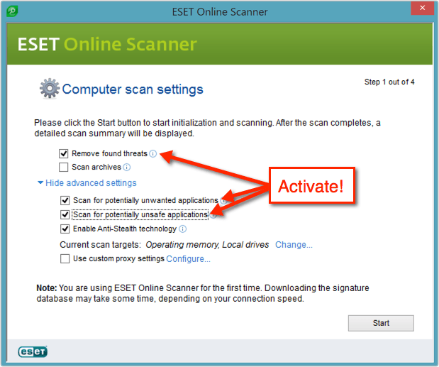 How To Remove Malware With ESET Online Scanner - SolverBase com